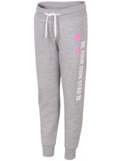 Sweatpants for younger children (girls) JSPDD103 - light grey melange