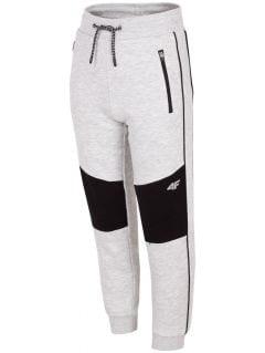 Sweatpants for older children (boys) JSPMD205 - grey