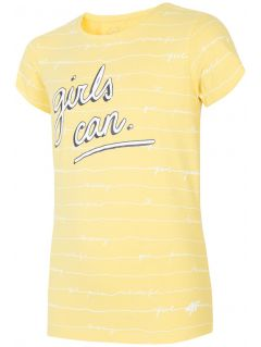 T-shirt for older children (girls) JTSD202A - yellow