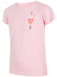 T-shirt for older children (girls) JTSD207 -  light pink melange