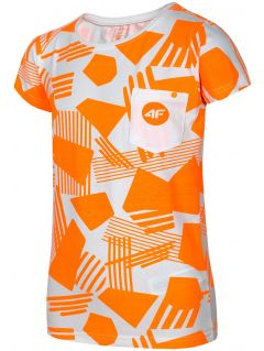 T-shirt for older children (girls) JTSD207A - orange neon