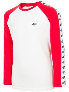 Long sleeve T-shirt for older children (boys) JTSML218A - red