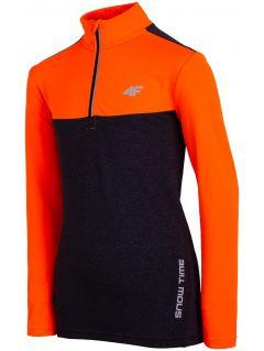 Active long sleeve shirt for older children (boys) JTSML402 - orange neon