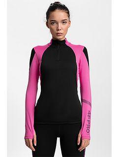 Women's active sweatshirt 4FPro Ski Running BLDF400 - black