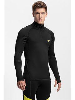 Men's active sweatshirt 4FPro Ski Running BLMF401 - black