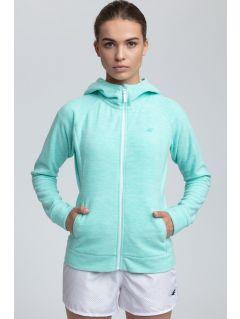 Women's fleece hoodie - mint melange