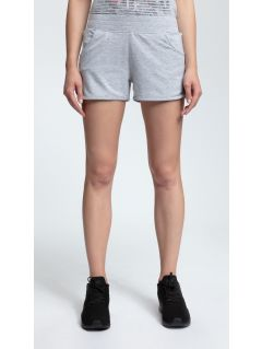 Women's knit shorts SKDD001 - light gray