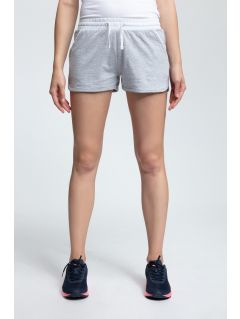 Women's knit shorts SKDD003 - light gray