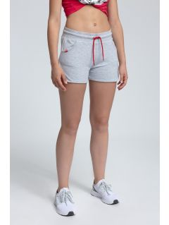 Women's knit shorts SKDD300 - light grey