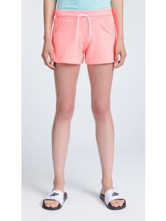 Women's knit shorts SKDD300 - salmon pink