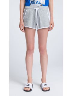 Women's knit shorts SKDD402 - light gray