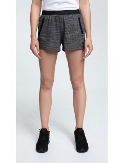 Women's knit shorts SKDD421 - dark grey melange