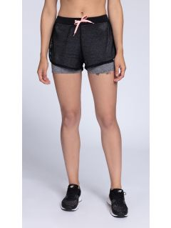 Women's active shorts SKDF002 - dark gray melange