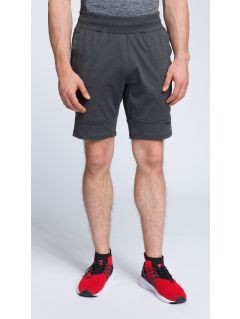 Men's active shorts SKMF007 - dark grey melange