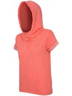 Women's hoodie BLD001 - neon coral melange