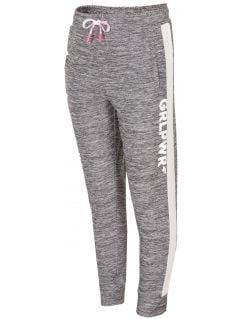 Active pants for small girls JSPDTR300 - light grey
