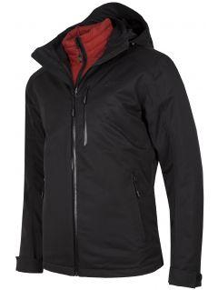 Men's trekking 3in1 jacket KUMT200R - black