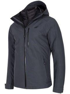 Men's trekking 3in1 jacket KUMT200R - grey melange