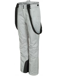 Women's ski pants SPDN300 - light grey melange