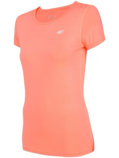 Women's active T-shirt TSDF206 - coral pink neon