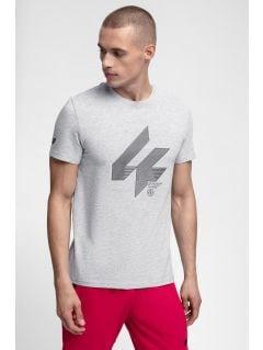 Men's T-shirt TSM288 - light grey melange