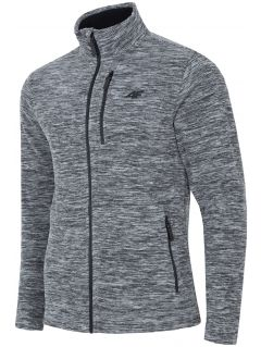 Men's fleece sweatshirt PLM001 - dark grey melange