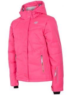 Ski jacket for younger children (girls) JKUDN300 - fuchsia