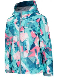 Ski jacket for older children (girls) JKUDN401A - mint allover