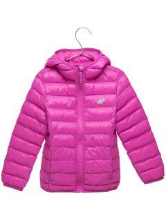 Down jacket for younger children (girls) JKUDP106 - fuchsia