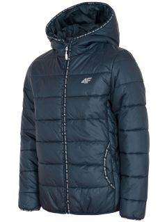 Down jacket for older children (girls) JKUDP201 - navy