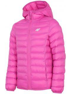 Down jacket for older children (girls) JKUDP206 - fuchsia