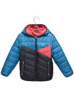 Down jacket for younger children (boys) JKUMP103 - blue