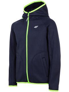 Fleece hoodie for older children (boys) JPLM201 - navy