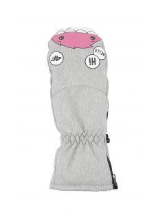 Gloves for younger children (girls) JRED300 - light grey melange