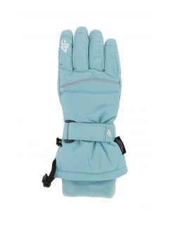 Ski gloves for older children (girls) JRED402 - mint