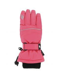 Ski gloves for older children (girls) JRED402 - fuchsia