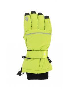 Ski gloves for older children (boys) JREM401 - fresh green