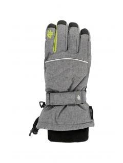 Ski gloves for older children (boys) JREM403 - grey melange