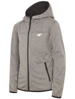 Softshell jacket for for older children (boys) JSFM301 - dark grey melange