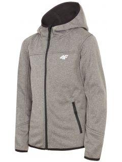 Softshell jacket for for older children (boys) JSFM401 - dark grey melange