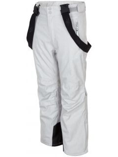 Ski pants for older children (girls) JSPDN401a - grey melange
