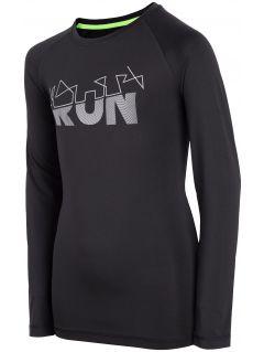Active long sleeve T-shirt for older children (boys) JTSML400 - black
