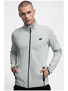 Men's sweatshirt BLM302 - grey melange