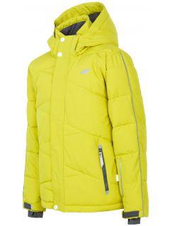 Ski jacket for older children (boys) JKUMN400 - fresh green