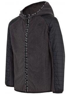 Fleece hoodie for older children (boys) JPLM402 - dark grey melange
