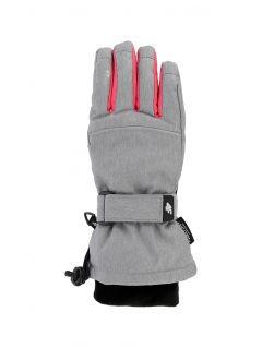 Ski gloves for older children (girls) JRED402 - grey melange
