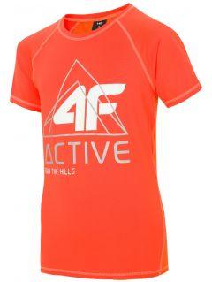 Active T-shirt for older children (boys) JTSM405 - orange neon