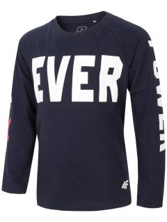 Long sleeve T-shirt for older children (boys) JTSML216 - navy