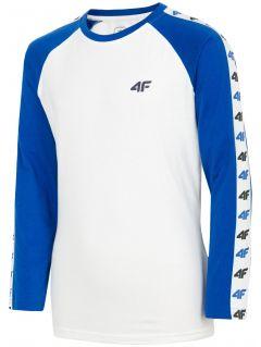Long sleeve T-shirt for older children (boys) JTSML218 - cobalt blue