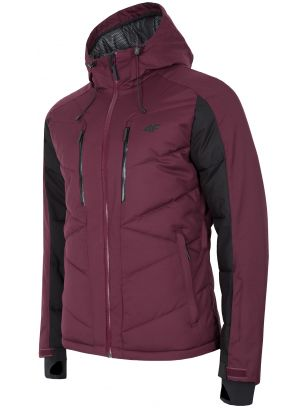 Men's ski jacket KUMN256 - burgundy